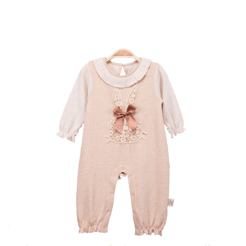 Newborn Baby Girl Organic Cotton Rompers Suit Clothes Infant Toddler Girls Long Sleeve One-piece Cute Jumpsuit Rompers outfits warm thicken baby rompers long sleeve organic cotton autumn
