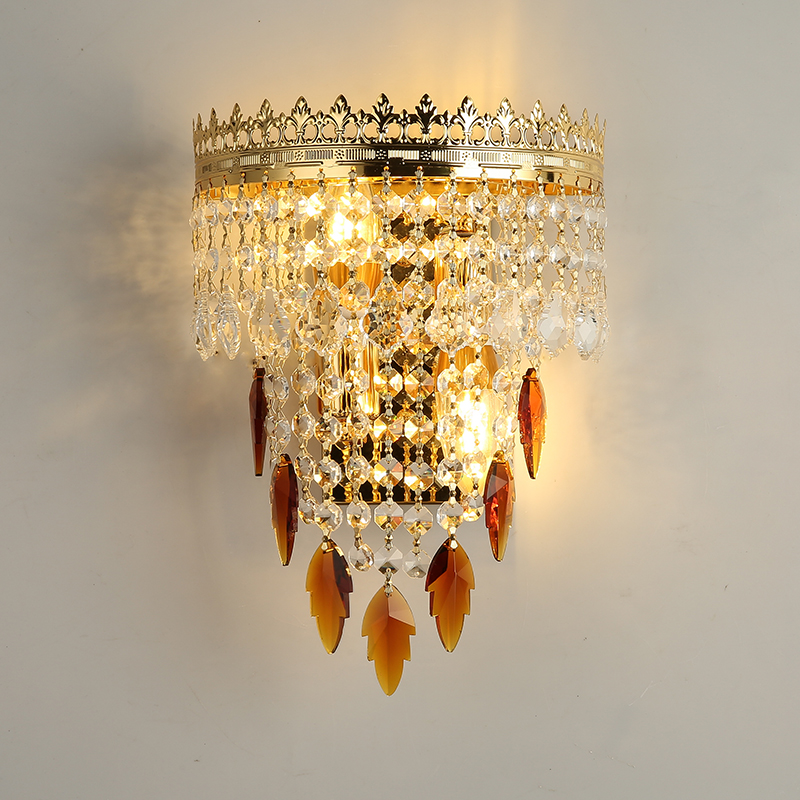 Crystal Wall Lamp European Style Wall Light Modern Wall Sconce Simple Living Room Bedroom Led Bedside Lamp Wall Lamps