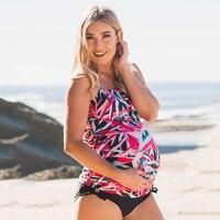 Pregnant Women Swimwear Trajes De Bano Plus Size Swimwear Women Bikini For Premama Maternity Swimwear