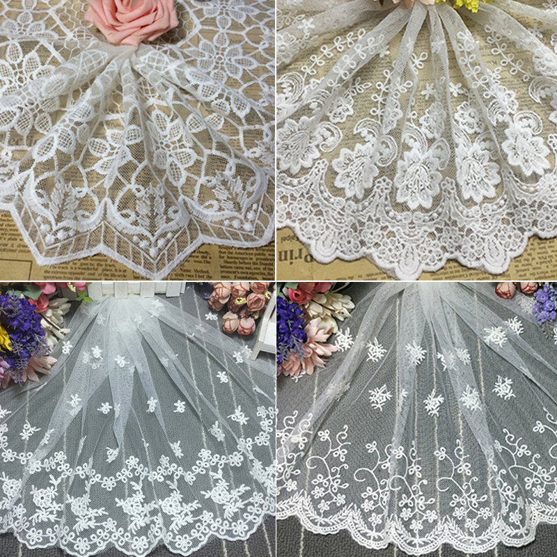 1Yard Tree Embroidered Tulle Lace Trim Doll Clothing Accessories Sewing Craft