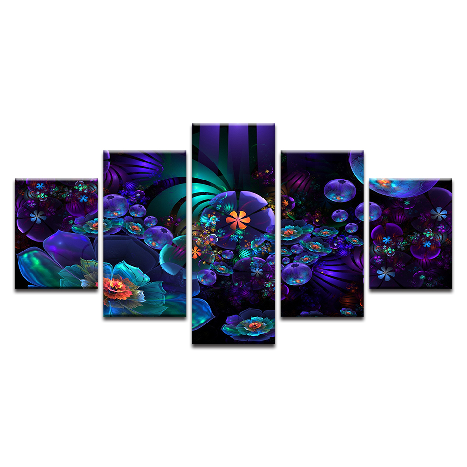 Print Style Wall Modular HD Flower Art Canvas Painting Popular Pictures For Living Room Cuadros Modern Framework Decoration
