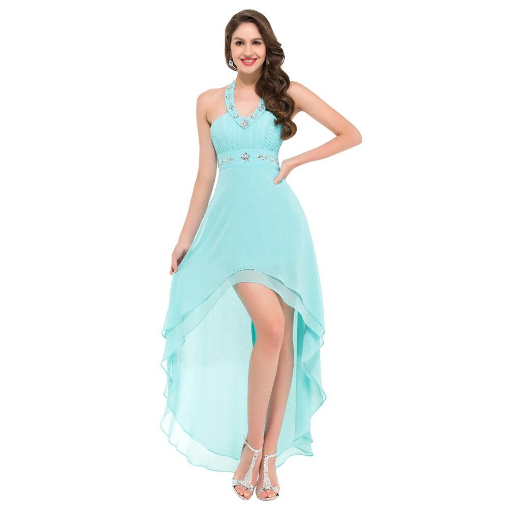 High Low Prom Dresses Grace Karin Chiffon Black Blue Burgundy ...