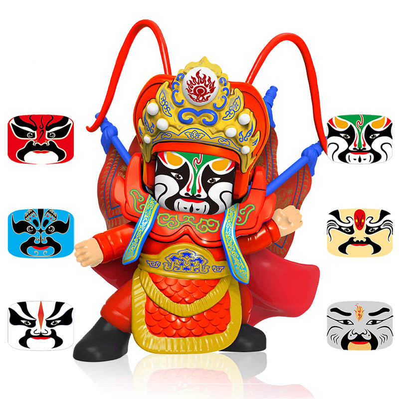 Anime Figure  Opera DIY Toys Facechanging Doll Ornaments Gift BeiJing Traditional  4 Faces Peaking Action Figure Fun Novelty