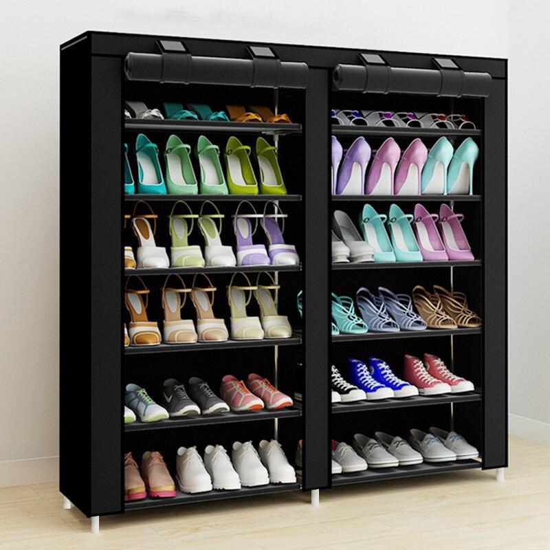 43,3-дюймовый 7-слоя 9-сетка нетканых материалов большой шкаф для обуви Организатор съемный для хранения обуви для дома мебель шкаф для обуви