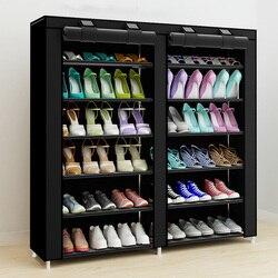 43.3-inch 7-layer 9-grade tecidos não tecidos grande organizador de cremalheira de sapato removível armazenamento de sapato para mobiliário doméstico armário de sapato