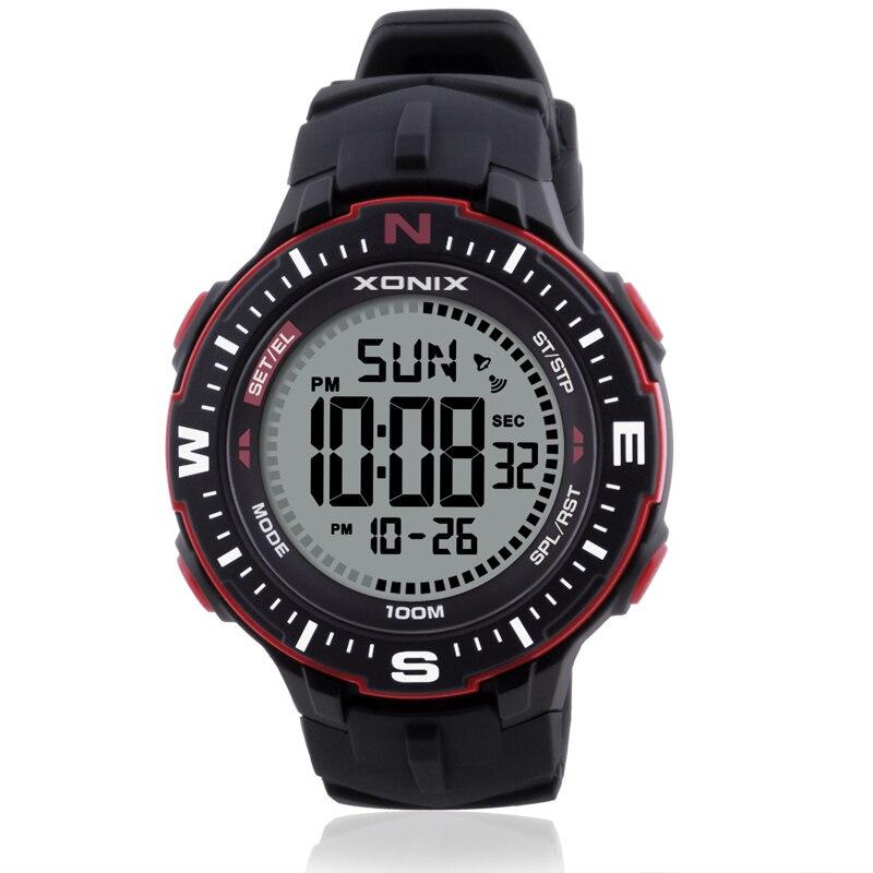 Hot!! Fashion Men Sports Watches Waterproof 100m Outdoor Fun Multifunction Digital Watch Swimming Diving Wristwatch Montre Homme