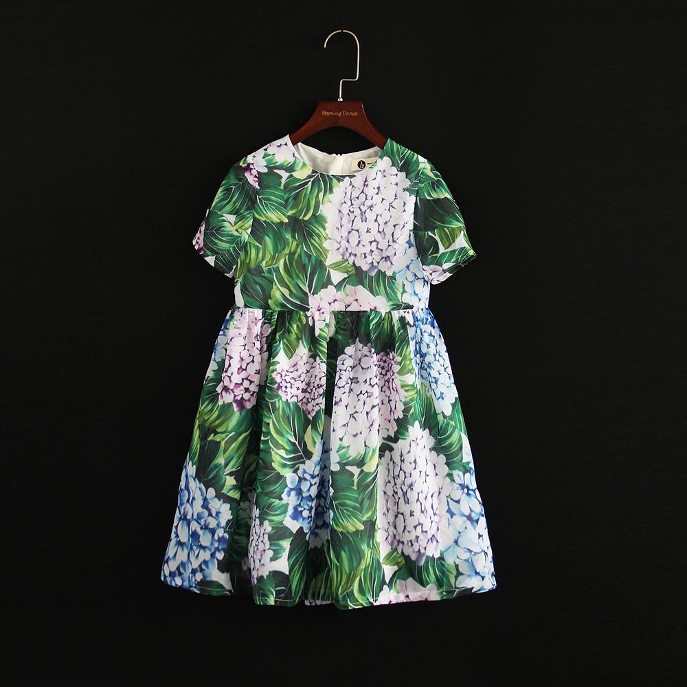 Été marque enfants fleur fille enfants plage robe famille look tenue maman et bébé filles robe mère fille correspondant vêtements