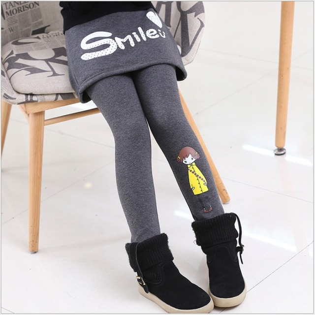 0c66266e5 2017 autumn winter thick warm girls pant leggings skirt gray red black teenage  12 years old kids clothes