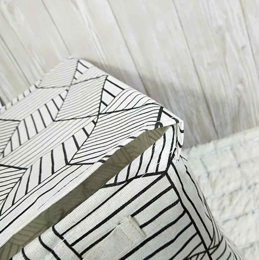 Nova faixa Coberta Caixa de Armazenamento de Mesa de Linho de Algodão De Armazenamento Balde De Armazenamento Cesta de Armazenamento de roupas Organizador Caso Cosméticos Brinquedos Dos Miúdos
