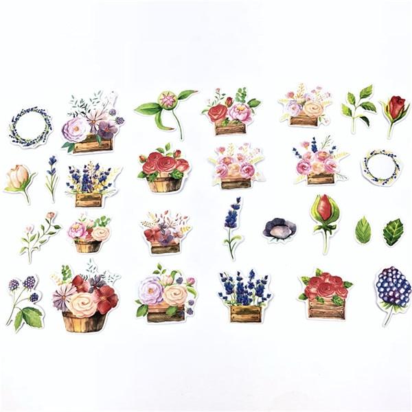 1 пакет, милые Мультяшные декоративные наклейки в Корейском стиле, клейкие наклейки, скрапбукинг, сделай сам, декоративные наклейки для дневника - Цвет: 7