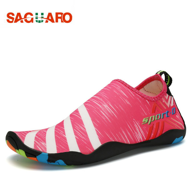 31508f6f09f5 Men Women Aqua Shoes Quickly-dry 2018 Unisex Summer Footwear Barefoot Skin  Shoes Lightweight Breathable Swimming Water Shoes