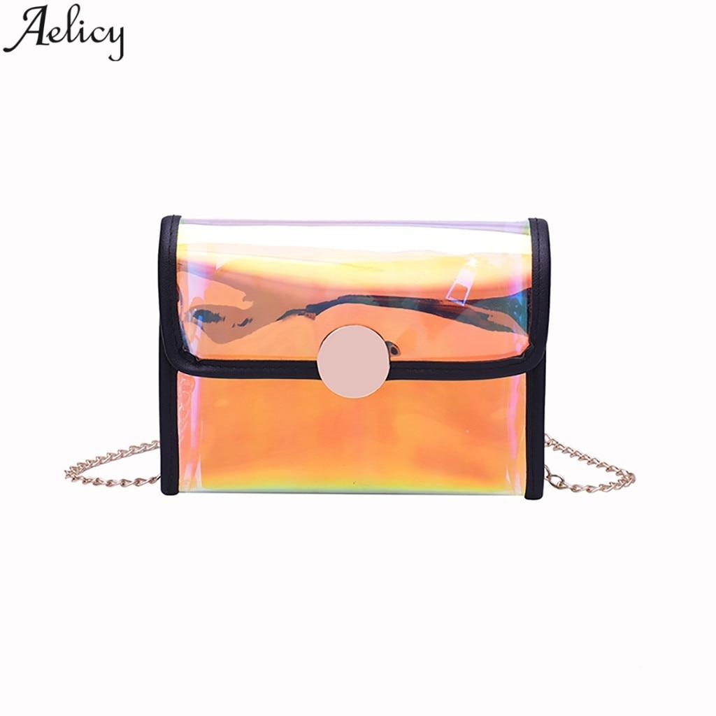 e10d7274bb03 Aelicy женская мода краткое жесткая сумка леди повседневное Универсальный  простой стиль желе Crossbody Лидер продаж Новый