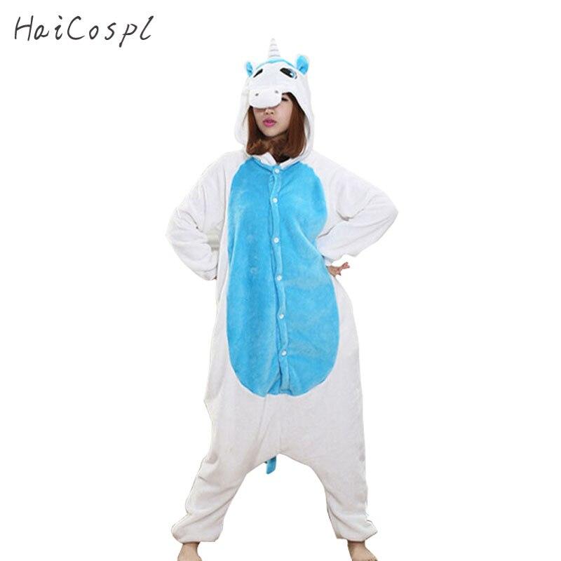 Tiere Kigurumi Einhorn Kostüm Erwachsene Mädchen kinder Einhorn Onesie Flanell Panda Totoro Frauen Anime Overall Disguise Onepiece Anzug