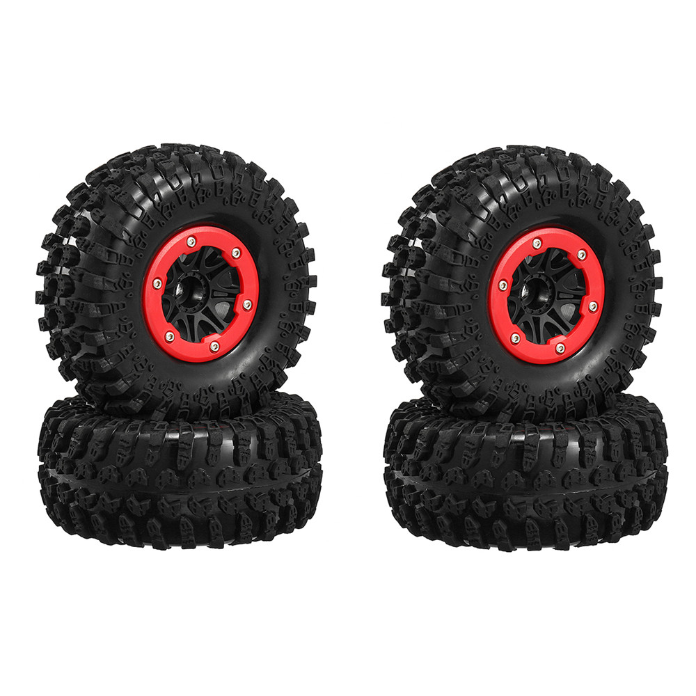 4pcs <font><b>2.2</b></font> Inch Rim Rubber Tyre <font><b>Tire</b></font> <font><b>RC</b></font> Car Wheel For 1/10 <font><b>Crawler</b></font> Axial 130mm Rock <font><b>Crawler</b></font> <font><b>Tire</b></font> Wheel image