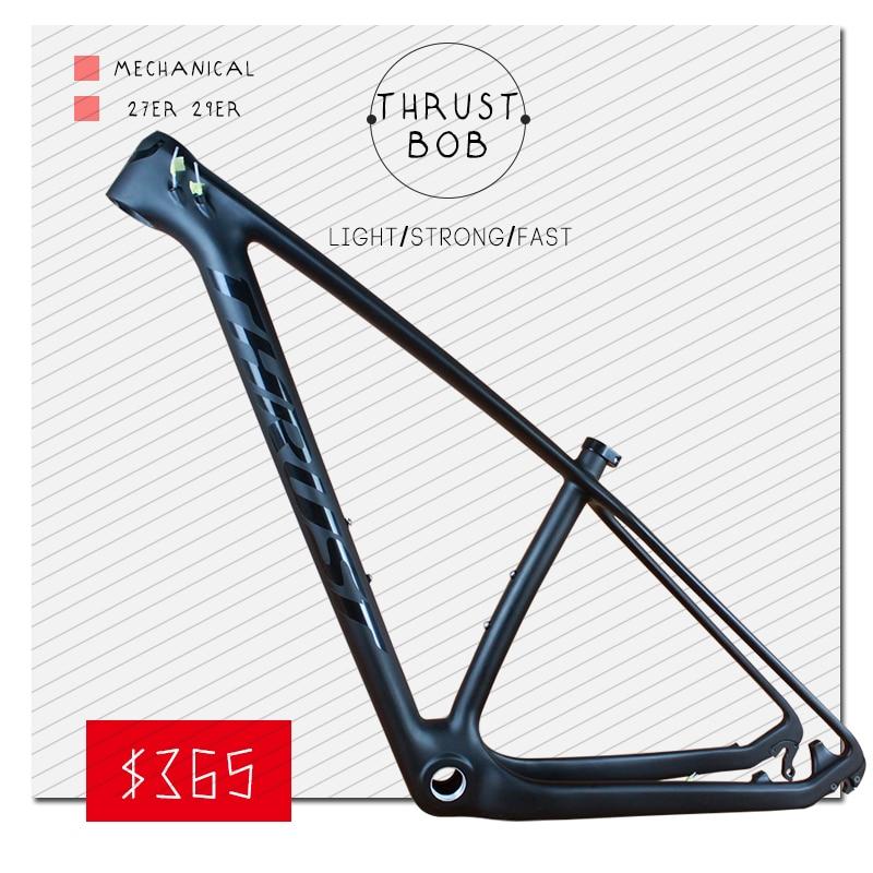THRUST BOB 29er Chinese Carbon Frames 15/17/19 INCHES 29 Carbon Mountain Bike Frameset Free Shipping Carbon MTB Frame