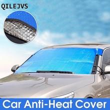 QILEJVS Car Windshield SUV Sunshade Sun Shield Sun Shade Cover Front Windscreen Block reflective car windshield sun shield heat shade silver