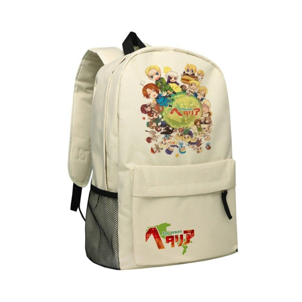 Manga Axis Powers Backpack Teenager School Bag Hetalia Mochila Oxford Shoulder Bags Children Backpacks for Girls Boys Bookbag 2016 animal panda school bags for teenager boys girls high school student kids bookbag children school bag men backpack