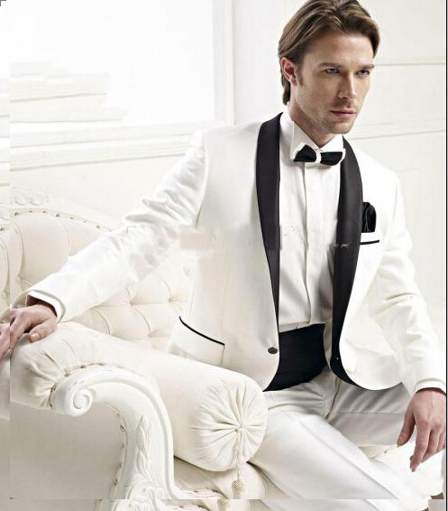 New Style Fashion Formal Suit For Men White And Black Spots Brand