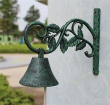 Země Rustikální Leaf Door Bell VÍTEJTE Večeře Bell Litinové stěny Dekorativní zvonek pro domácí bar Obchod Store Antirust Doprava zdarma