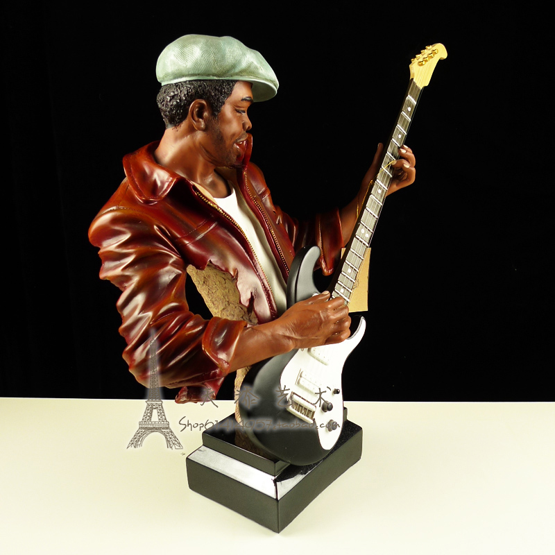 American Famous Jazz Band Guitarist Figurine Resin Music Guitar