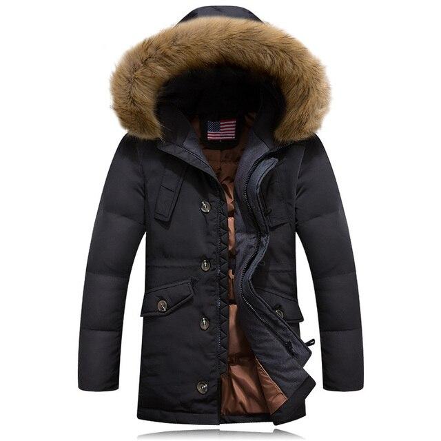 Lange Winterjas Met Capuchon.Te Koop Canada Goode Winterjas Mannen Witte Eend Donsjack Mannelijke