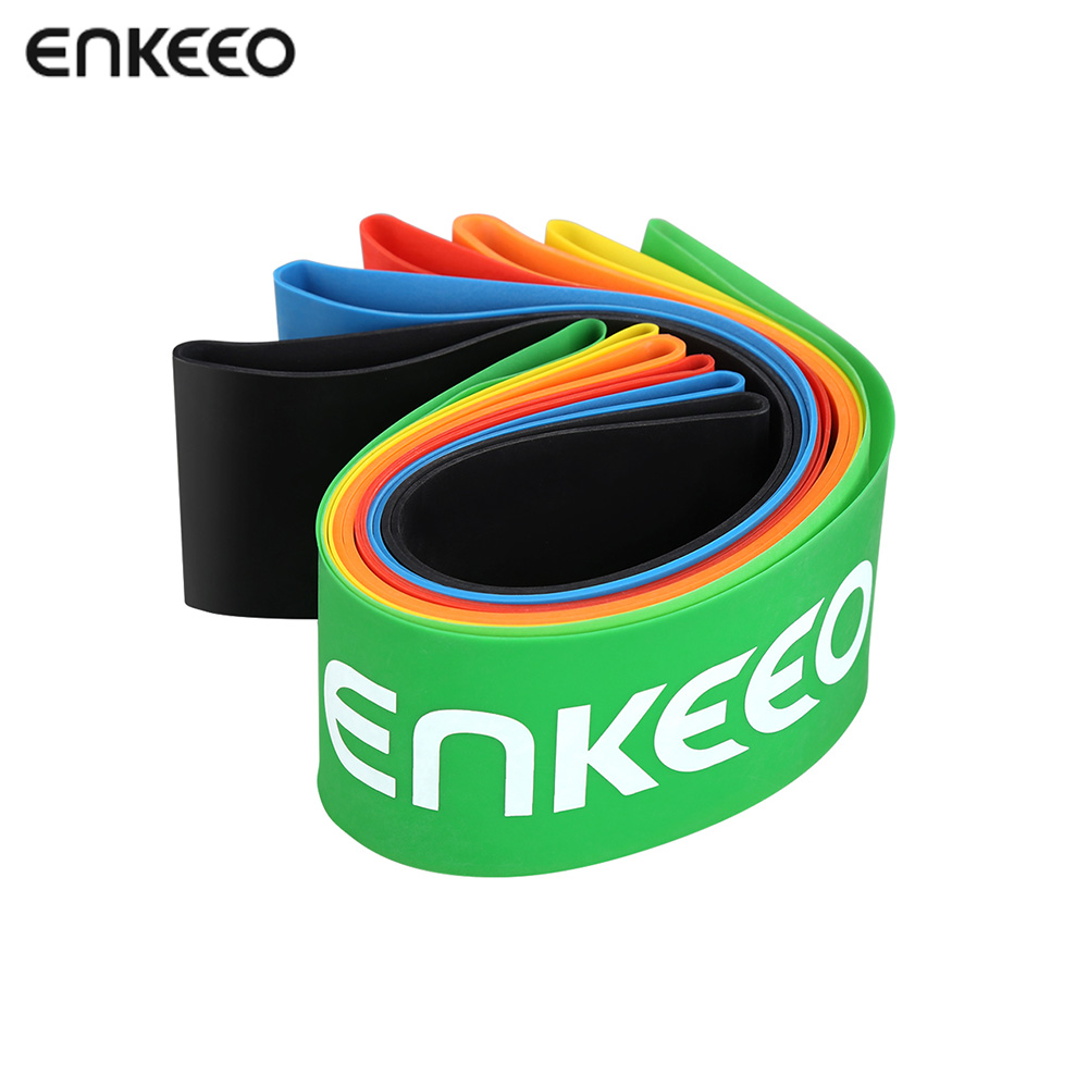 Enkeeo Exercise Resistance Loop Bands 12x2 inch Workout Bands for Yoga Stretching Pilates Physical Therapy Home Fitness