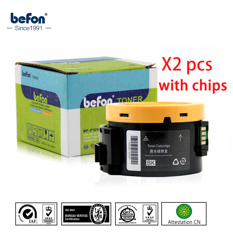 befon 2pcs P105B Tone Cartridge Compatible for Xerox Phaser 3010 3040 3010B WorkCentre 3045 Laser Printer with Chip compatible for xerox workcentre compatible laser printer toner cartridge reset chip 013r00621