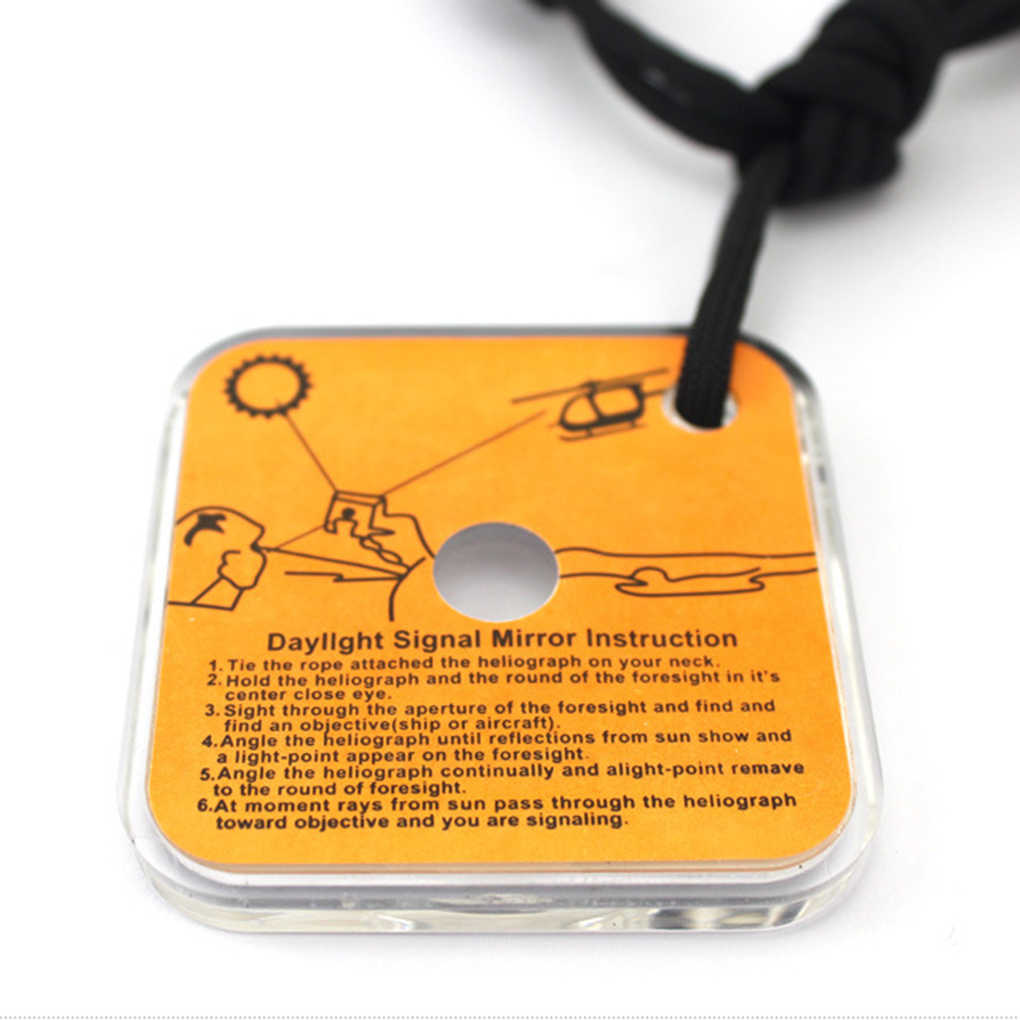 Practical Reflective Signal Mirror With A Whistle For Outdoor New Survival S4A2