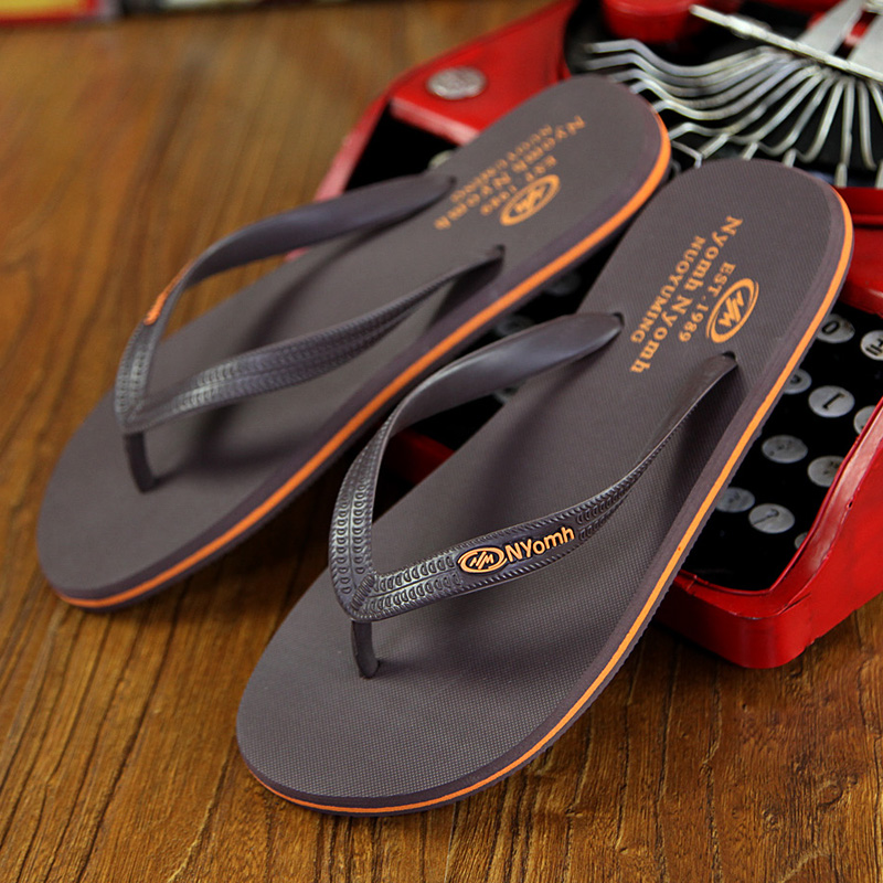 34ef04c8b68 Men s Flip Flops Rubber Male Slippers Summer Fashion Beach Sandals Shoes  for Man High Quality plus
