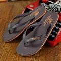 Chanclas de Goma caliente 2016 de Los Hombres Masculinos Zapatillas de Moda de Verano Sandalias de playa Zapatos para Hombre de Alta Calidad más el tamaño Eur: 39-44