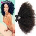 Kinky Curly brasileiro Virgem Cabelo 4 Pacotes de Rosa Cabelo Brasileiro Afro Crespo Cabelo Crespo Não Transformados Afro Crespo Tecer Cabelo Humano
