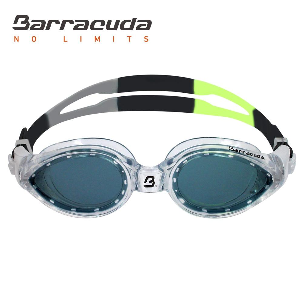 Barracuda úszás védőszemüveg PANAVISION ívelt lencsék köd elleni UV védelem könnyű beállítás felnőtteknek férfiaknak # 14820