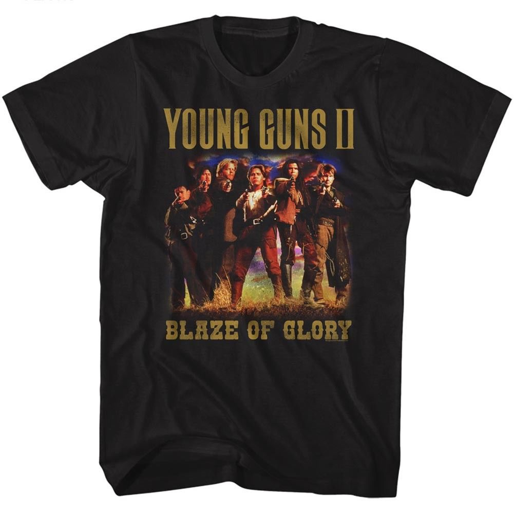 Young Guns 2 Blaze Of Glory Group Photo Adult T Shirt Classic Movie