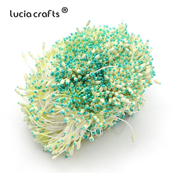 288 шт 60 мм разноцветные варианты наконечник пестик тычинка цветок тычинка украшения торта двойная головка тычинки D0501 - Цвет: color 10