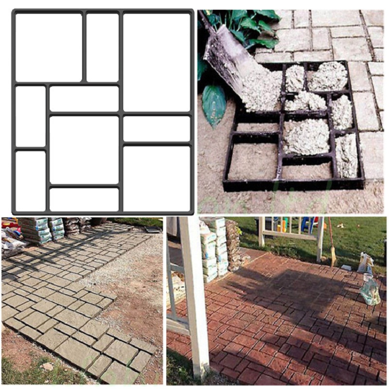 Image 4 - Cross border for European and American hot selling cement floor tiles DIY paving mold pavement mold-in Paving Molds from Home & Garden