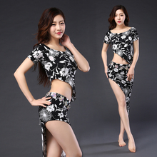 2018 Belly Dance Costume Top+Skirt Oriental Dancing Training Clothing Suit Womens Girls belly dance Wear