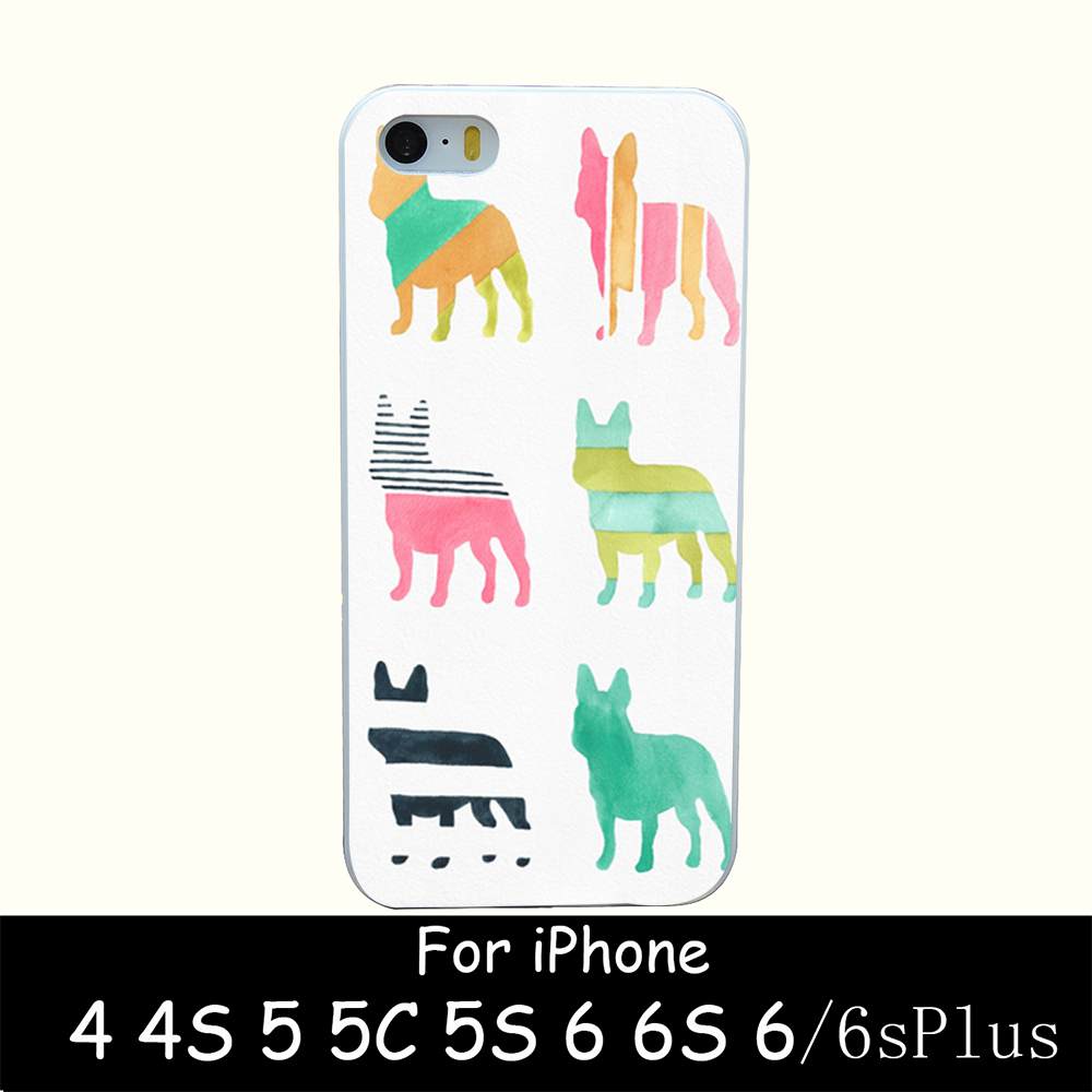 french bulldogs Hard White Skin Case Cover for iPhone 4 4s 5 5s 5g