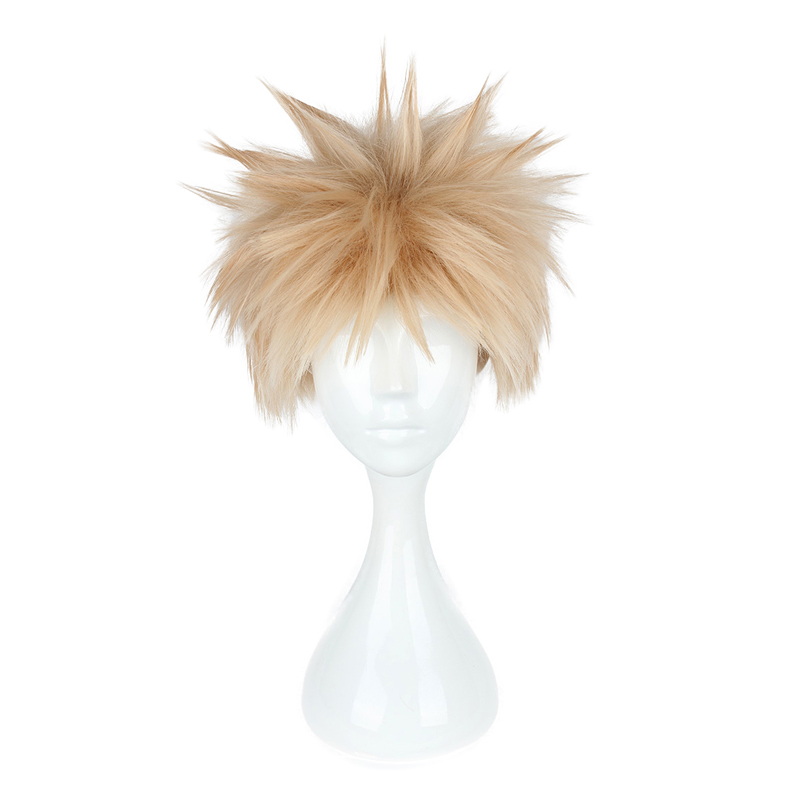 Anime Boku no Hero Academia Bakugou Katsuki Wig Cosplay Costume My Hero Academia Short Hair Party Wigs