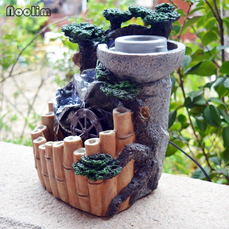 스톤 밀 대나무 rockery 홈 오피스 데스크탑 물 분수 장식 액세서리 풍수 휠 분수 수지 공예 장식품-에서피규어 & 미니어처부터 홈 & 가든 의  그룹 2