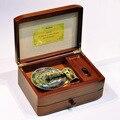Novo 22 tons noz Original madeira velha caixa de madeira maciça música de gramofone caixas de música para a menina amor presente de casamento dia dos namorados