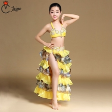 Children Belly Dance Costume Set Stage Performance Dancing Clothes for girls Oriental dance Skirts Outfit Kids bra skirt