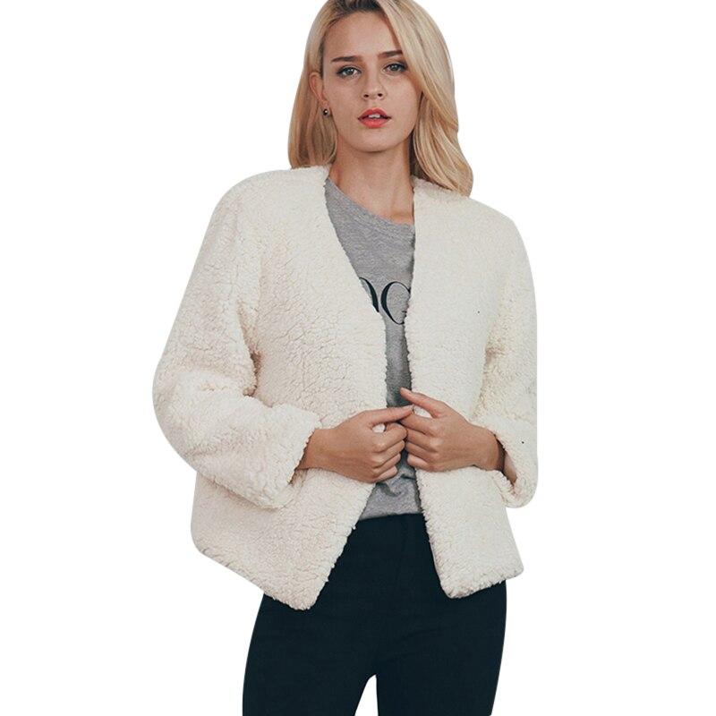 2017 Mode Frauen Mantel Kunstpelz Neuen V-ausschnitt Herbst Und Winter Neue Weich Und Bequem Hohe Qualität Heißer Verkauf S, M, L, Xl, Xxl, 3xl