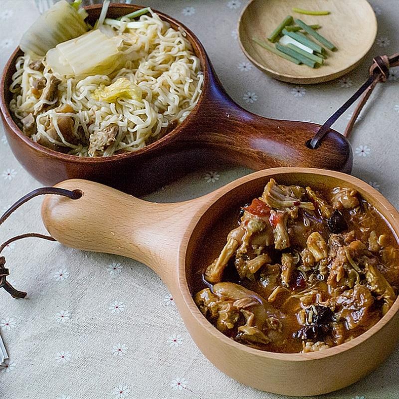 Nový nábytek kulaté dřevěné nádobí korejský buk s opaskem se - Kuchyně, jídelna a bar