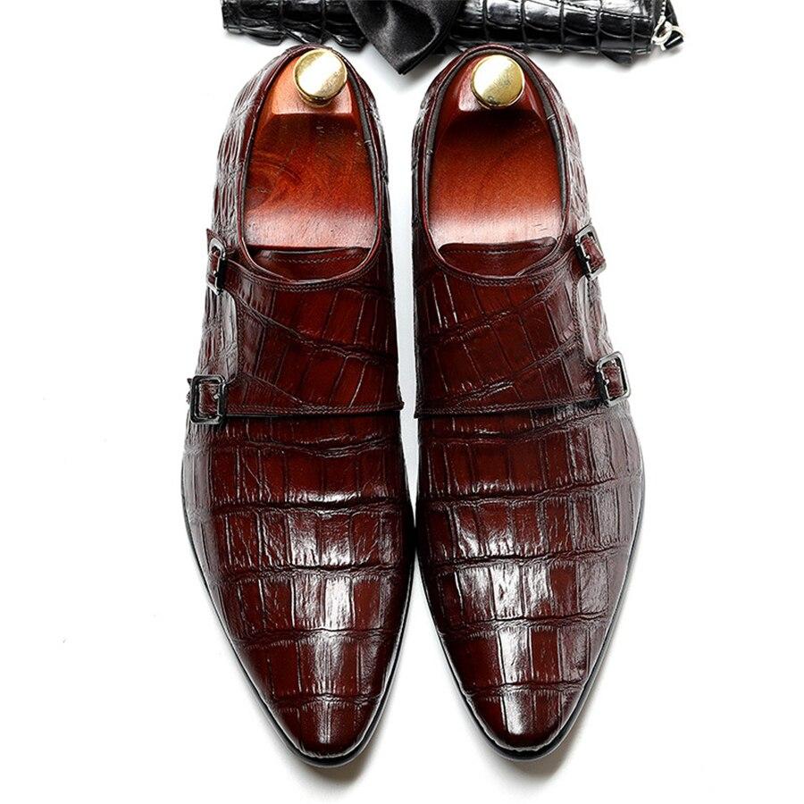 حقيقية جلد البقر البروغ حذاء أيرلندي الأعمال الزفاف أحذية الرجال عارضة الشقق أحذية خمر اليدوية حذاء أكسفورد للرجال الربيع-في أحذية رسمية من أحذية على  مجموعة 1