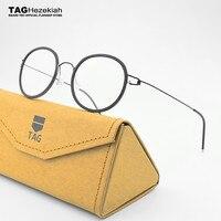 2019 TAG Brands Retro glasses frame men titanium Pure Hand made eyeglasses frames women spectacles myopia screwless eyewear