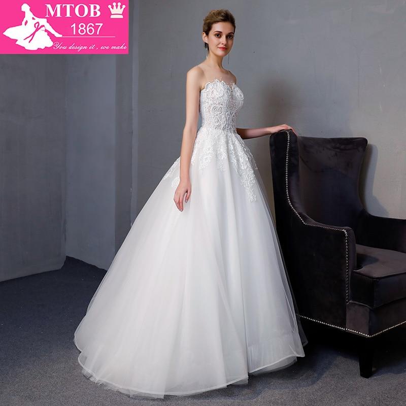 Νέα Άφιξη A-line πολυτέλεια Vintage νυφικό - Γαμήλια φορέματα - Φωτογραφία 3
