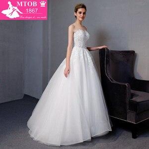 Image 3 - Yeni Varış A line Lüks Vintage düğün elbisesi Romantik Robe De Mariage Vestido De Noiva Sheer Backless gelinlik MTOB1801