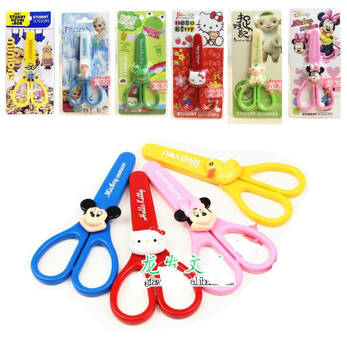 1pcs KT Cat Cartoon Safety Scissors Small Yellow People Remember Juan Vaca Vampire Killers Through Modeling Stainless Steel