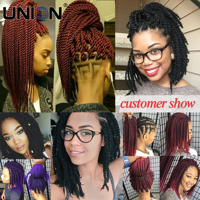 12″ 22roots Cheapest Senegalese Twist Crochet Braids Hair Extension 75g Ombre Synthetic Havana Mambo Twist Crochet Braids Hair