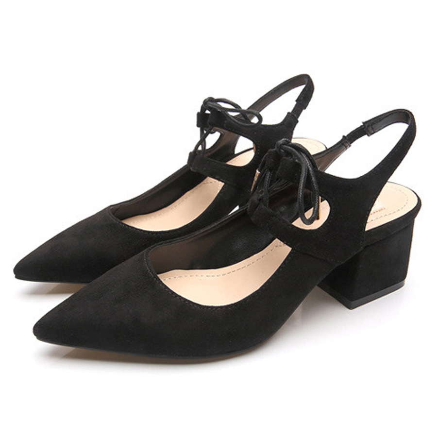 size 35-39 Fashion women spring summer single shoes pointed  flock cross strap rome sexy thick heel sandals wear comfortable new 2017 spring summer women shoes pointed toe high quality brand fashion womens flats ladies plus size 41 sweet flock t179